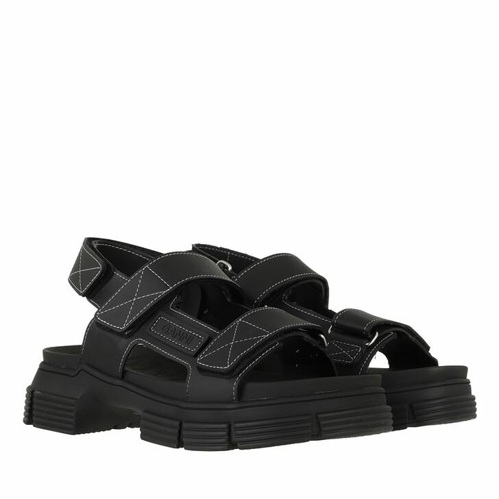 shoes, GANNI, Rubber Sandal Black
