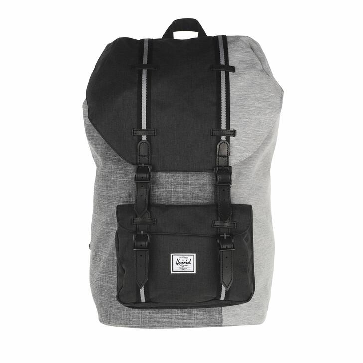 Reisetasche, Herschel, Little America Backpacks Raven Crosshatch Black