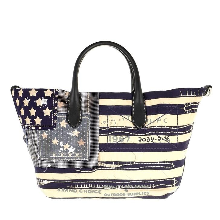 Handtasche, Polo Ralph Lauren,  Open Tote Medium Blue Multi