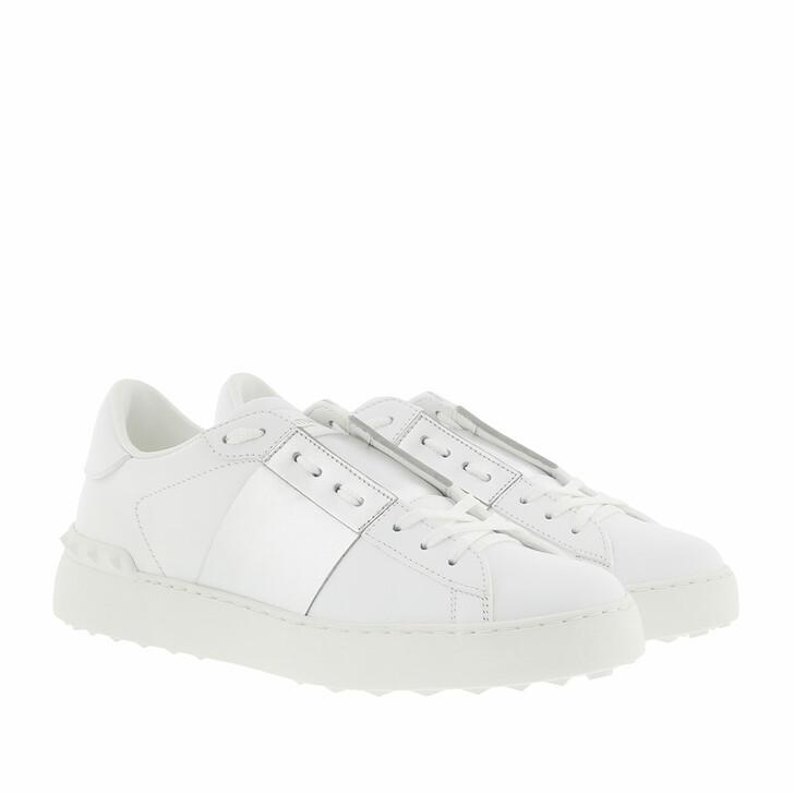 Schuh, Valentino, Bicolor Rockstud Sneaker White/Silver