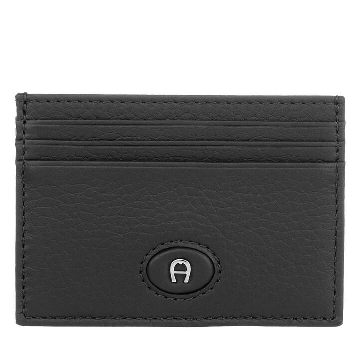 Geldbörse, AIGNER, Basics Card Holder Black