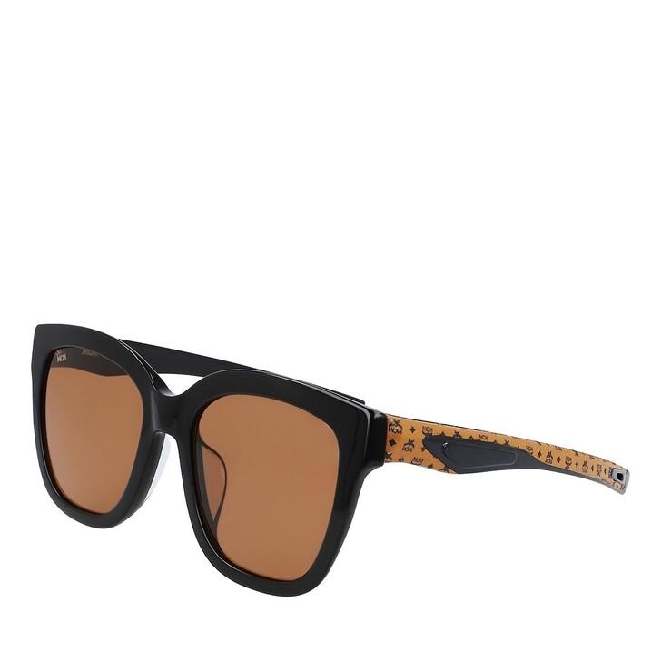 Sonnenbrille, MCM, MCM697SLA BLACK/COGNAC VISETOS