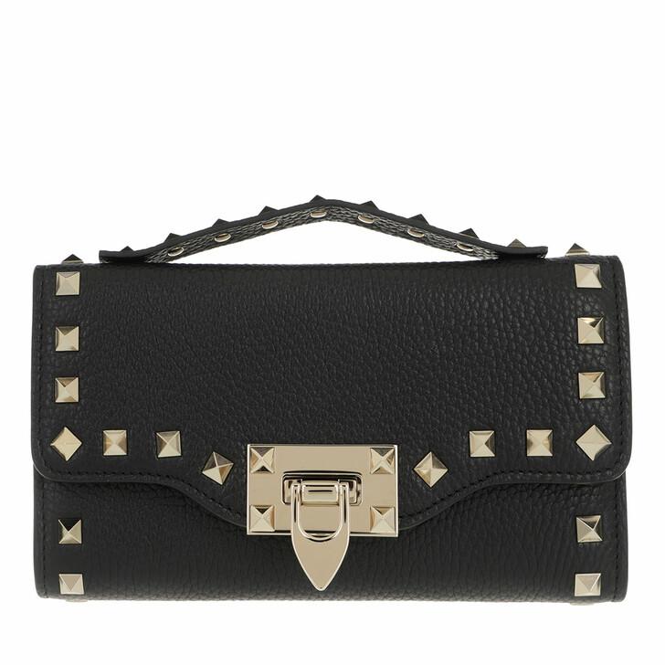 Geldbörse, Valentino, Rockstud Wallet On Chain Black