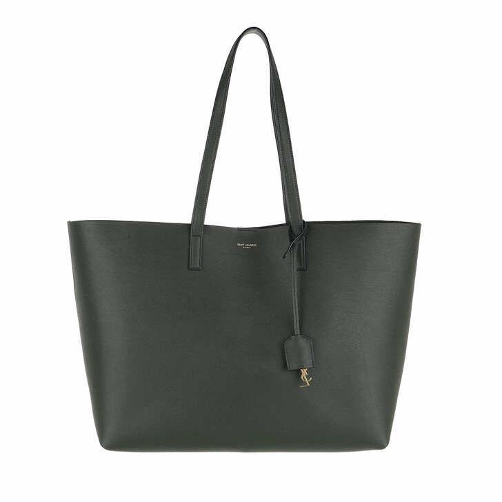 Handtasche, Saint Laurent, East West Medium Tote Leather Deep Green
