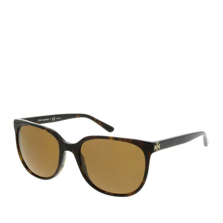 Sonnenbrille, Tory Burch, Women Sunglasses Classic 0TY7106 Dark Tortoise