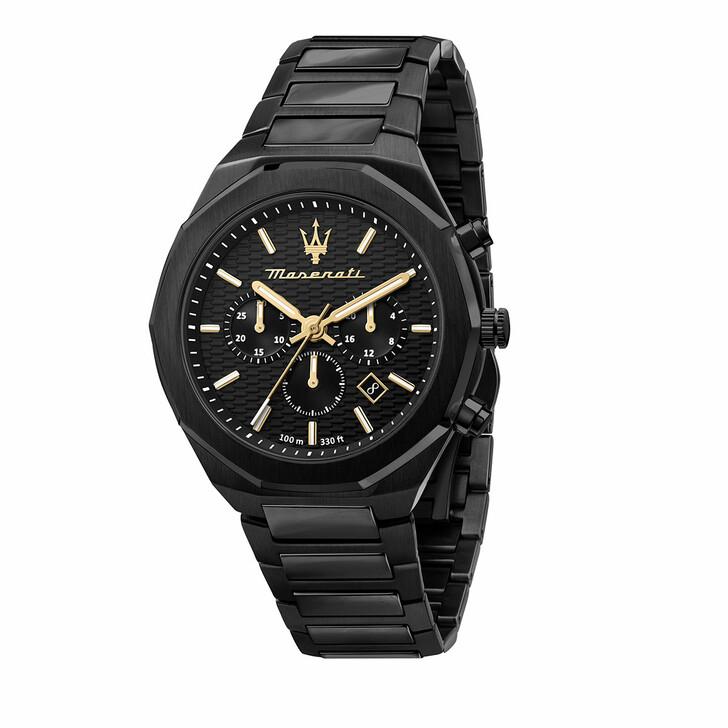 watches, Maserati, Watch Stile 45mm Chr Black