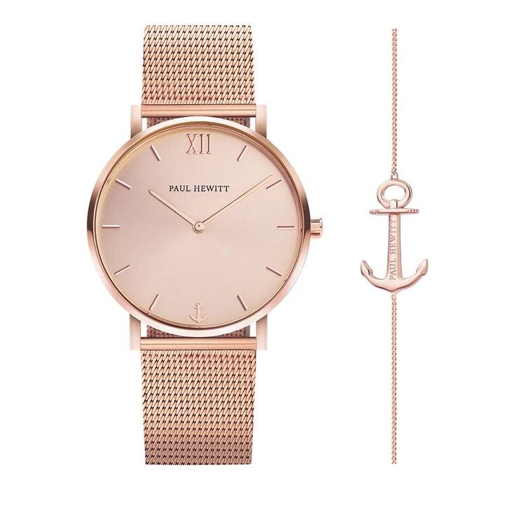 watches, PAUL HEWITT, Set Perfect Match Watch Sailor Line And Anchor Spirit Rosegold