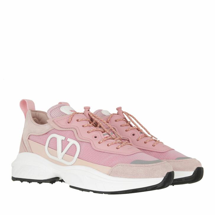 Schuh, Valentino Garavani, Chunky V-Logo Sneakers Leather Rose Quartz