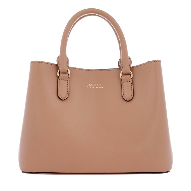 Handtasche, Lauren Ralph Lauren, Marcy II Satchel Bag Mini Leather Nude