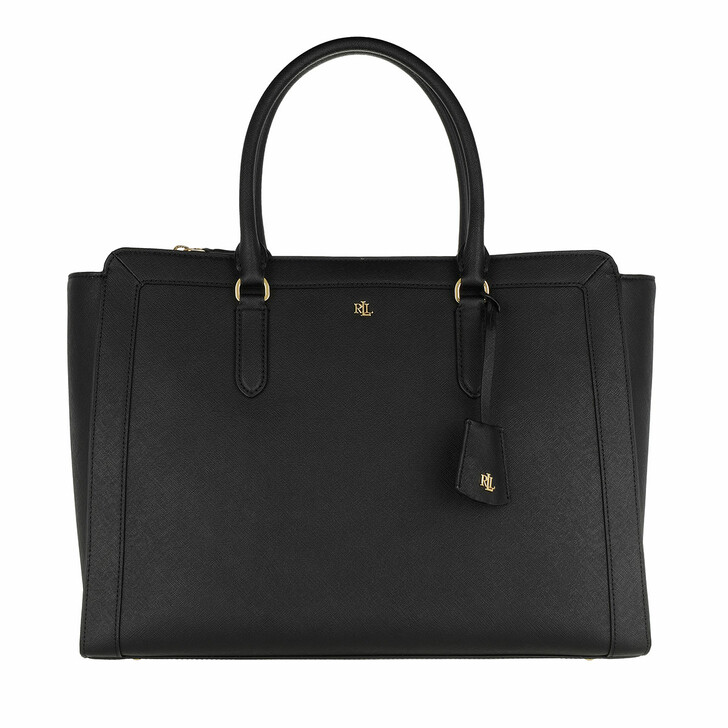 Handtasche, Lauren Ralph Lauren, Brooke 37 Satchel Large Black