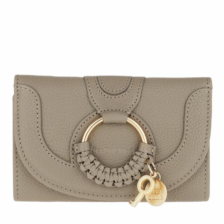 Geldbörse, See By Chloé, Hana Wallet Leather Motty Grey