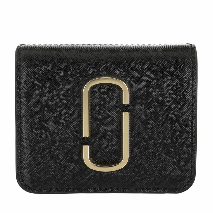 wallets, Marc Jacobs, Small The Snapshot Wallet Leather Black/Chianti