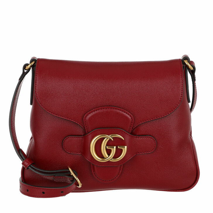 Handtasche, Gucci, GG Dhalia Crossbody Bag Leather New Cherry Red