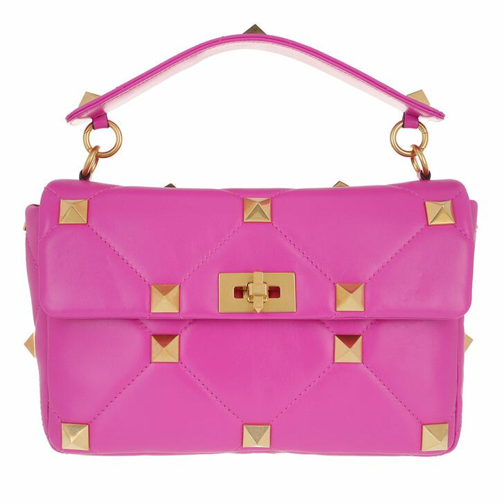 Handtasche, Valentino Garavani, Shoulder Bag Leather Radiant Orchid