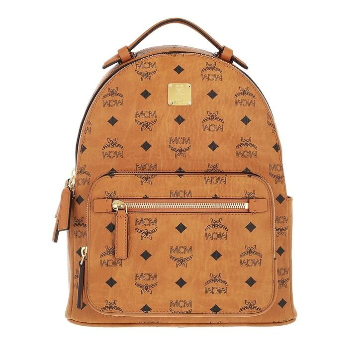 bags, MCM, Stark Visetos Backpack Small  Cognac