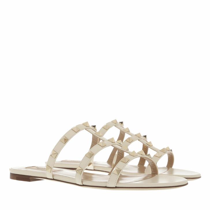 shoes, Valentino Garavani, Rockstud Sandals Light Ivory