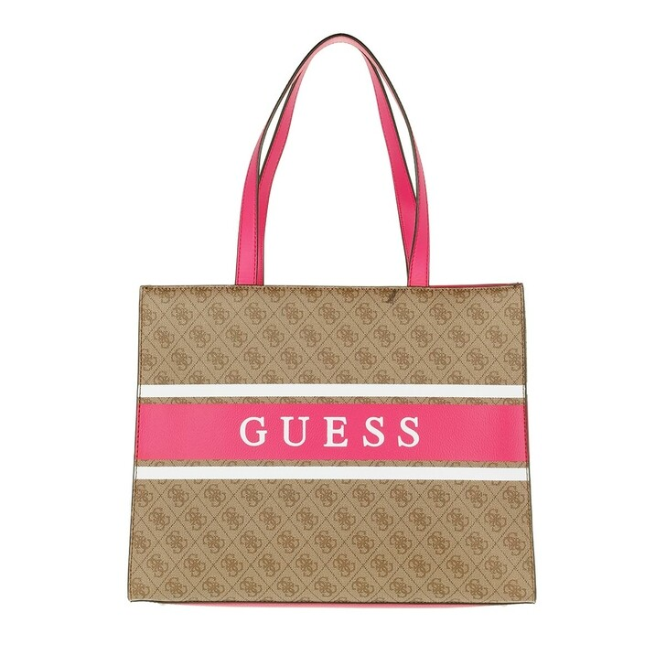 Handtasche, Guess, Monique Tote Latte/Pink