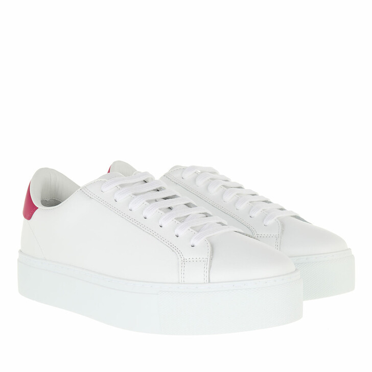shoes, Dsquared2, Sneakers Leather White/Fuchsia
