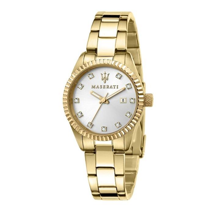 Uhr, Maserati, Watch Competizione 31 mm Gold/White