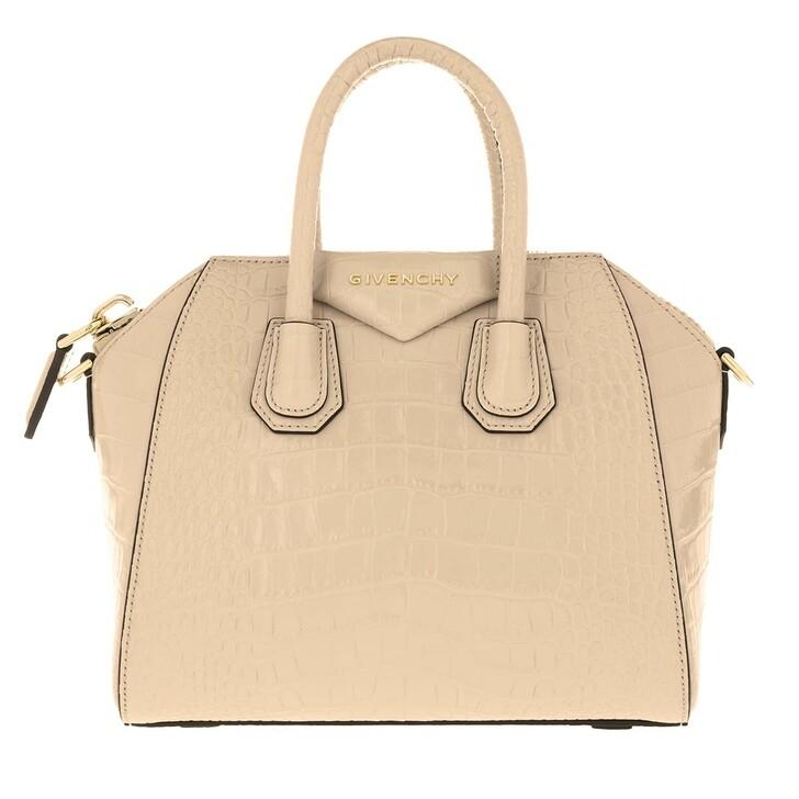 Handtasche, Givenchy, Antigona Mini Bag Croco Effect Leather Dune