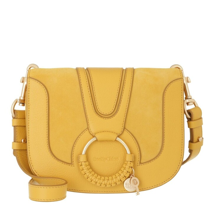 bags, See By Chloé, Hana Crossbody Suede Smooth Misty Gold