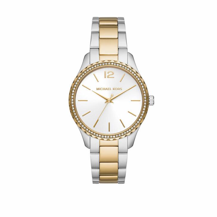 Uhr, Michael Kors, Ladies Layton Three-Hand Stainless Steel Watch Two-Tone