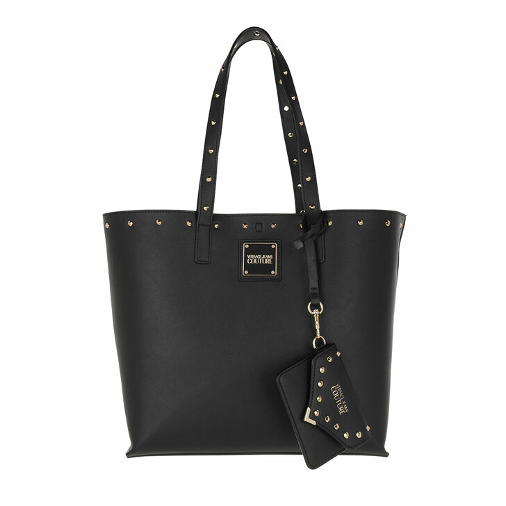 bags, Versace Jeans Couture, Shopping Bag Black