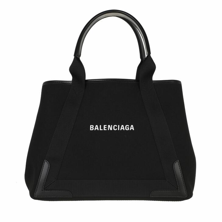 bags, Balenciaga, Medium Navy Cabas Tote Bag Black