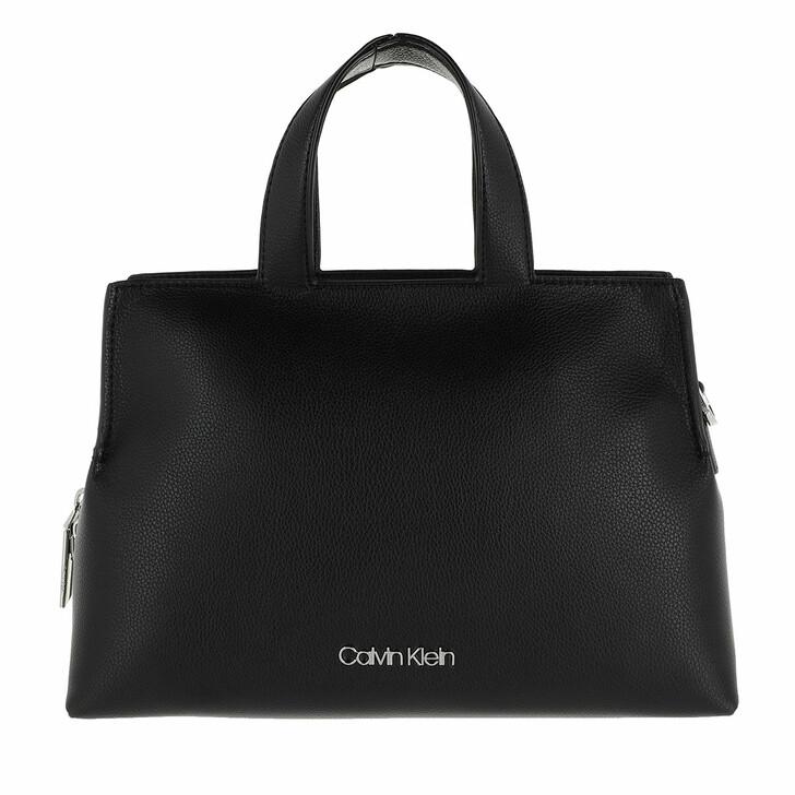 Handtasche, Calvin Klein, Medium Zip Tote Bag Black
