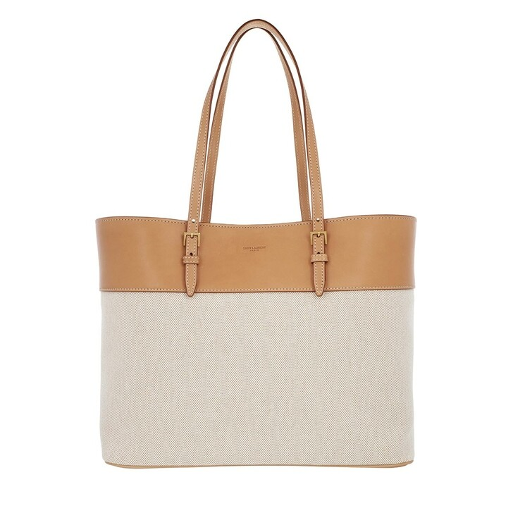 Handtasche, Saint Laurent, Boucle Shopping Bag Leather Natural Beige