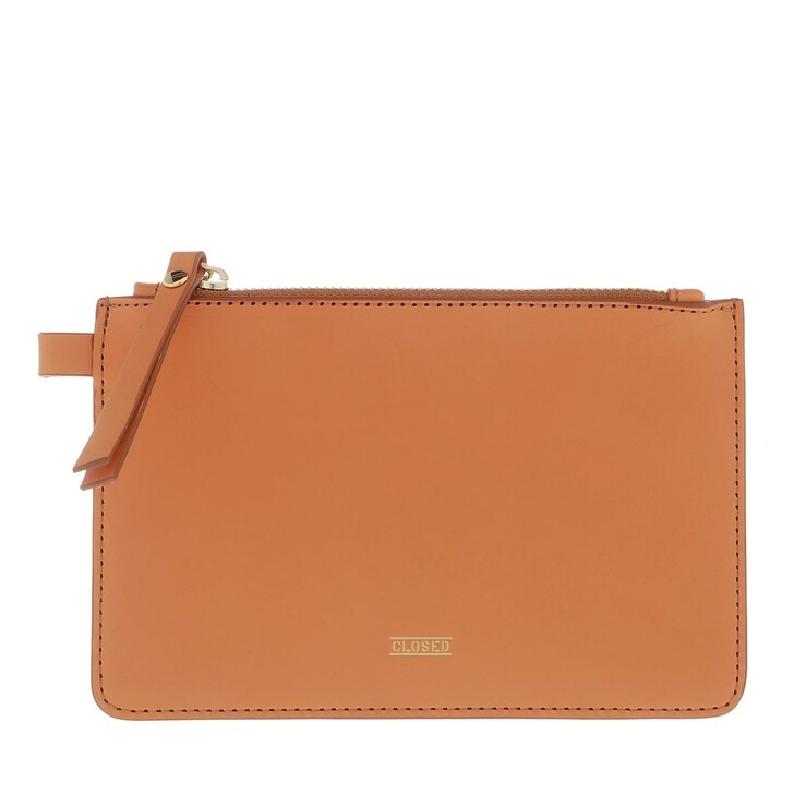 Handtasche, Closed, Pouch Leather Honey