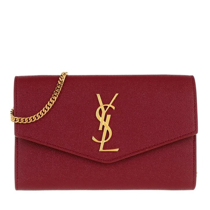 Handtasche, Saint Laurent, Flap Chain Crossbody Bag Opyum Red