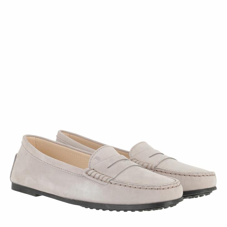 Schuh, Tod's, Gommino Loafers Nubuck Light Grey