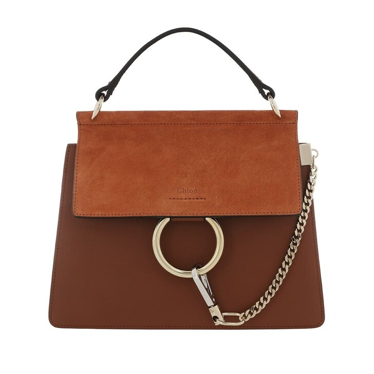 bags, Chloé, Faye Shoulder Bag Leather Classic Tobacco