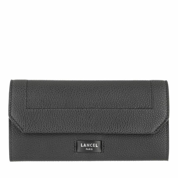 wallets, Lancel, Slim Flap Wallet Black