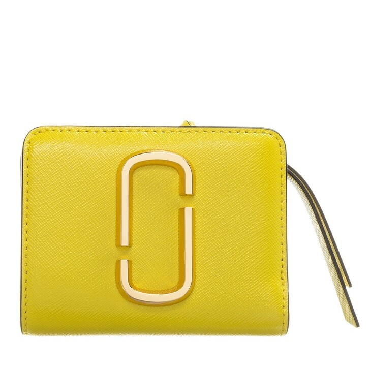 Geldbörse, Marc Jacobs, Snapshot Mini Compact Wallet Pomelo Yellow