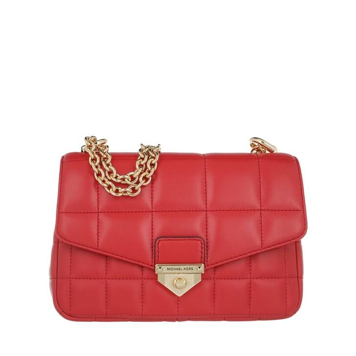 Handtasche, MICHAEL Michael Kors, Soho Small Chain Shoulder Bag Bright Red