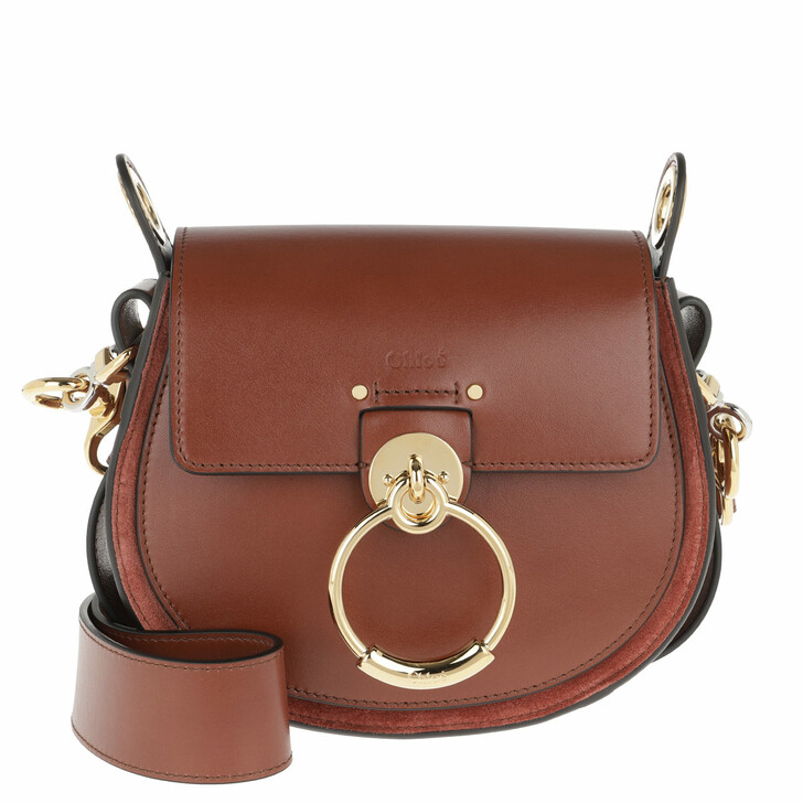 Handtasche, Chloé, Tess Shoulder Bag Small Leather Sepia Brown