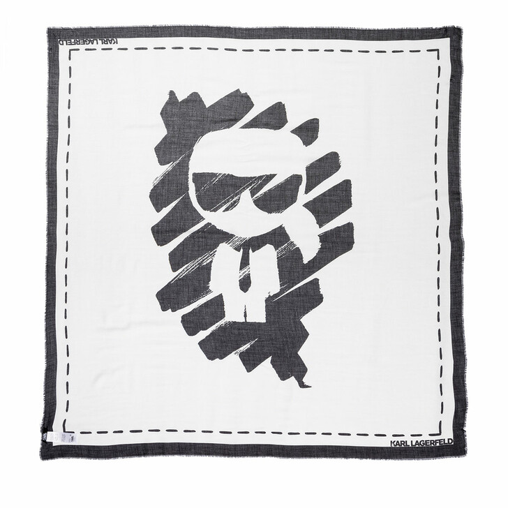 Schal, Karl Lagerfeld, Ikonik Graffiti Scarf Black/White