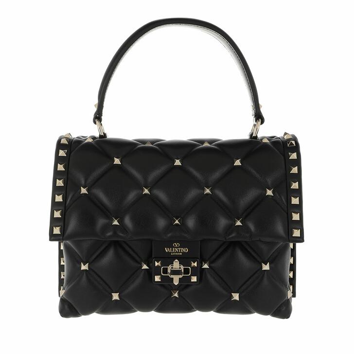 Handtasche, Valentino Garavani, Candystud Shoulder Bag Leather Black