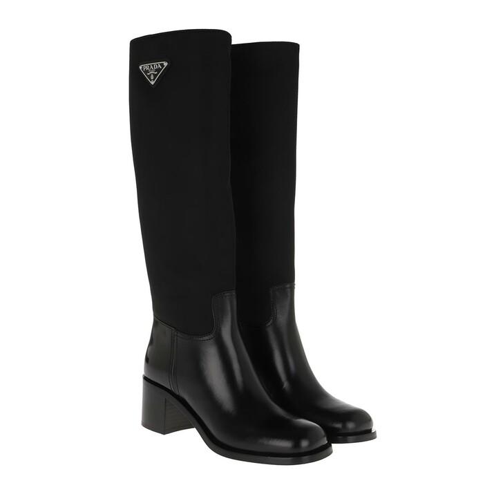 shoes, Prada, Boots Leather Nero