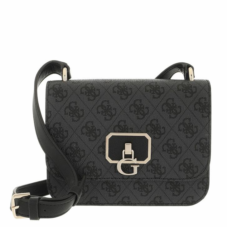 bags, Guess, Noelle Mini Crossbody Flap Coal