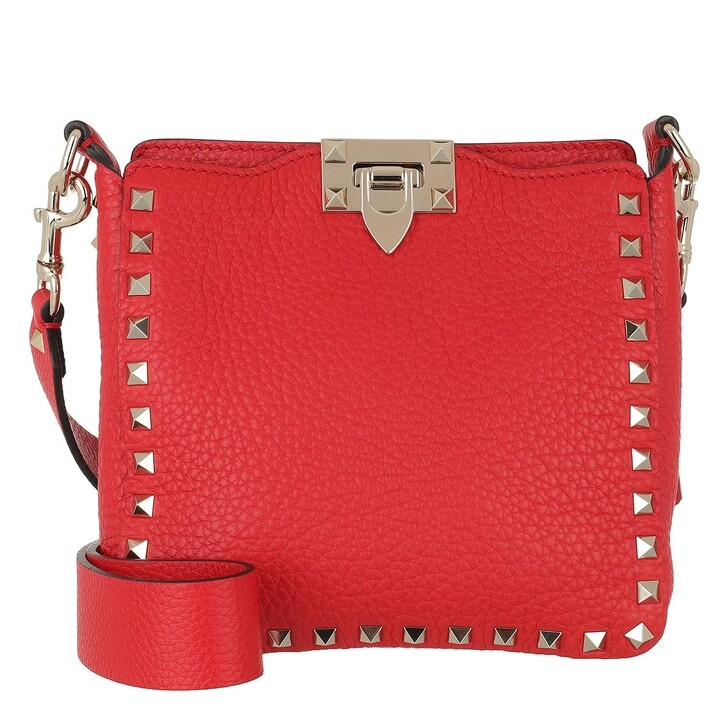 Handtasche, Valentino Garavani, Rockstud Hobo Bag Red