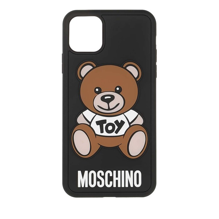 Smartphone/Tablet case (Case), Moschino, Toy Smartphone Case iPhone 11 Pro Max Fantasy Print Black