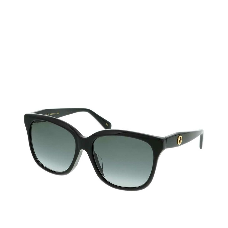 Sonnenbrille, Gucci, GG0800SA-001 56 Sunglass WOMAN ACETATE Black
