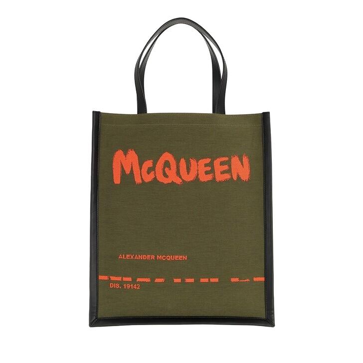 bags, Alexander McQueen, City Tote Bag Forest Green/Orange