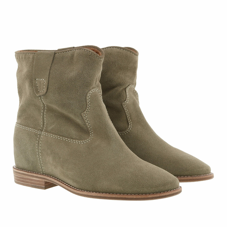 shoes, Isabel Marant, Crisi 40 Hill Boots Suede Taupe
