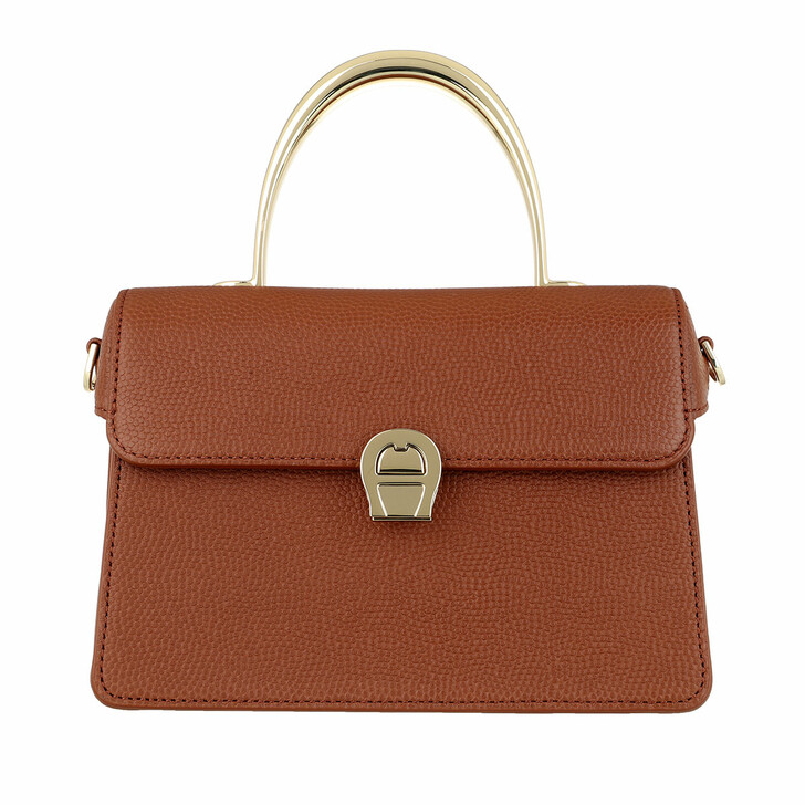 bags, AIGNER, Genoveva Pochette Bag Cognac