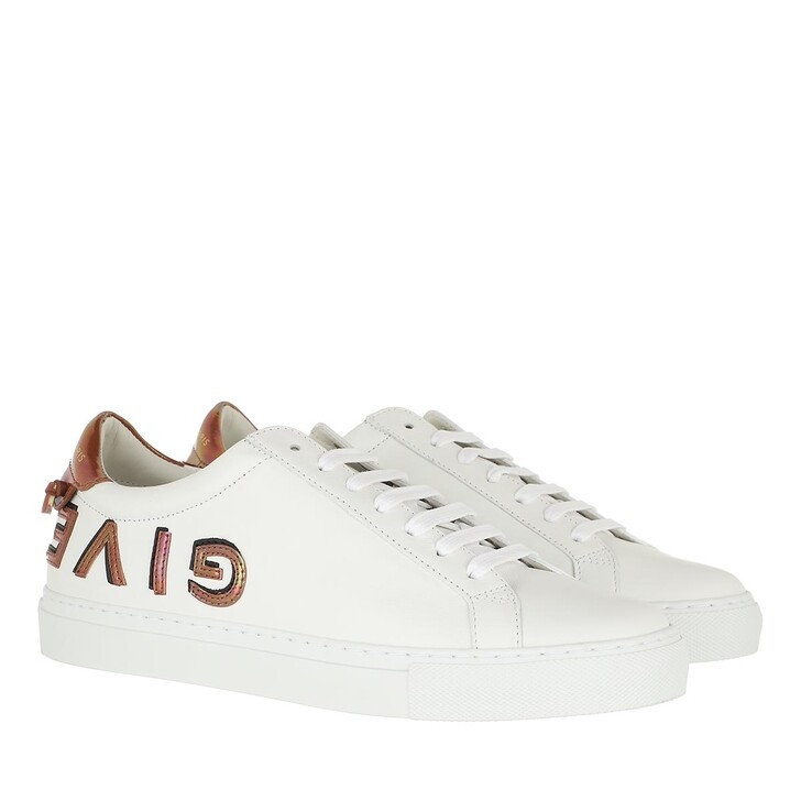 Schuh, Givenchy, Reverse Lace-Up Sneakers White Red