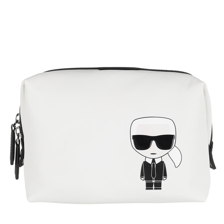 necessaires, Karl Lagerfeld, Ikonik Nylon Washbag White
